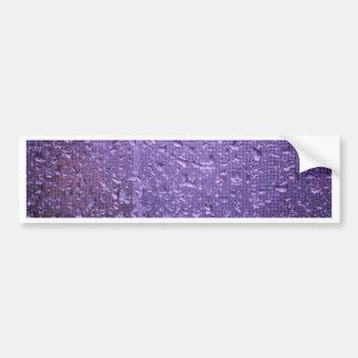 紫色の窓の雨滴 バンパーステッカー