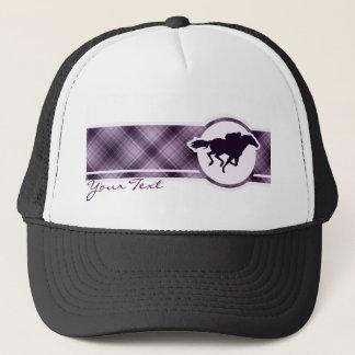 紫色の競馬 キャップ