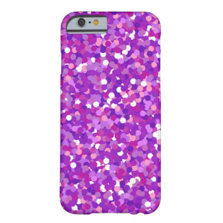 紫色の紙吹雪のグリッターパターン BARELY THERE iPhone 6 ケース