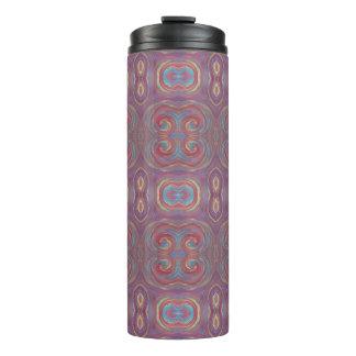 紫色の紫系統のペンキの渦巻のタンブラー タンブラー