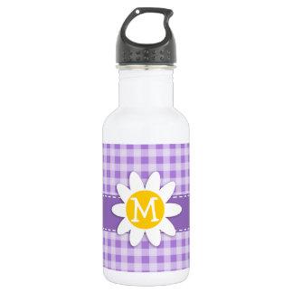 紫色の紫色のギンガム; デイジー ウォーターボトル