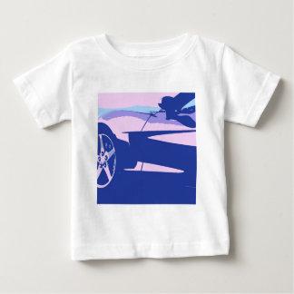紫色の紫色のコルベット ベビーTシャツ