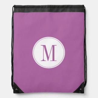 紫色の紫色のシンプル ナップサック