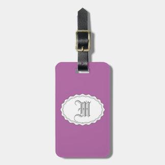 紫色の紫色のシンプル バッグタグ