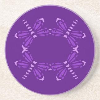 紫色の紫色のトンボ、飲み物のコースター コースター