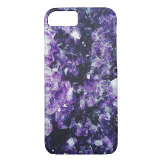 紫色の紫色の水晶 iPhone 8/7ケース