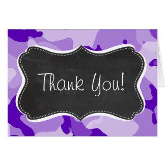 紫色の紫色の迷彩柄; カムフラージュ; 黒板 カード