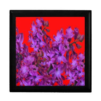 紫色の紫色のHyacinthの赤い花のギフト ギフトボックス