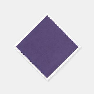 紫色の紫色色のビロードのカスタムな家のカジノ スタンダードカクテルナプキン