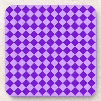 紫色の組合せのダイヤモンドパターン コースター