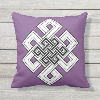 紫色の結び目の装飾用クッション アウトドアクッション