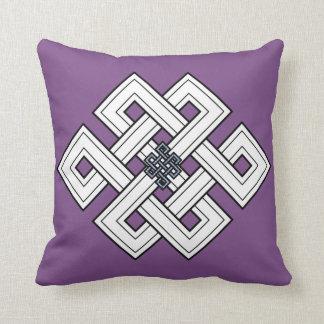 紫色の結び目の装飾用クッション クッション