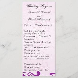 Purple Wedding Programs, Spring Wedding