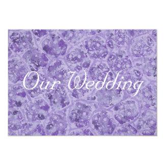 紫色の結婚式招待状、カスタムの陰 カード