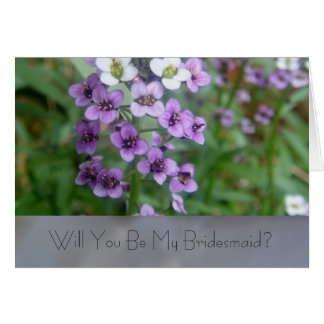 紫色の結婚式 カード