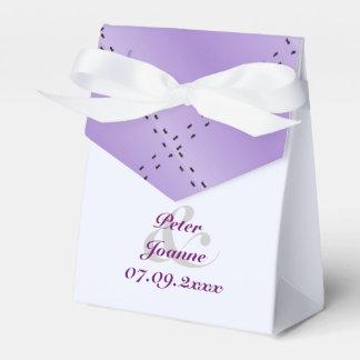 紫色の結婚式 フェイバーボックス