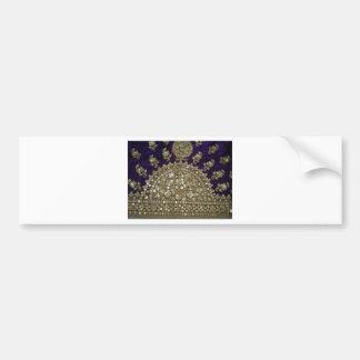 紫色の絹のインド複雑なZARIの仕事 バンパーステッカー