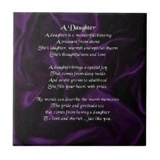 紫色の絹-娘の詩のタイル タイル