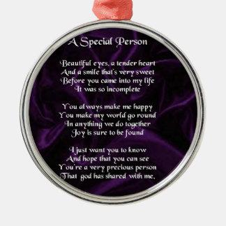 紫色の絹-特別な人の詩 メタルオーナメント