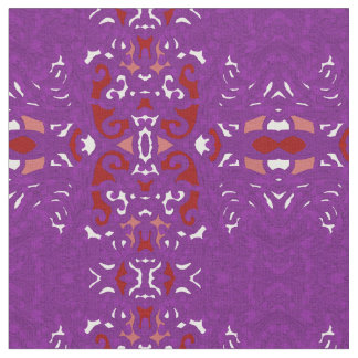 、紫色の綿の生地技術白いモモ赤い ファブリック