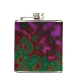 紫色の緑の宇宙抽象芸術 フラスク