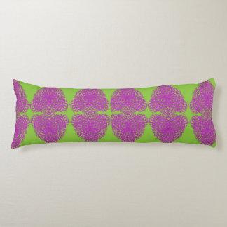 紫色の緑の組合せのヴィンテージによってインスパイア生地のプリント ボディピロー