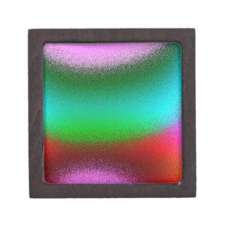 紫色の緑の赤の抽象芸術 ギフトボックス