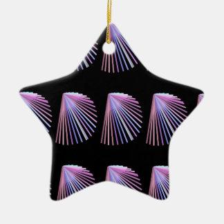 紫色の線画のビーチの貝殻のデザイン セラミックオーナメント