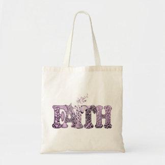 紫色の織り目加工の手紙の信頼 トートバッグ