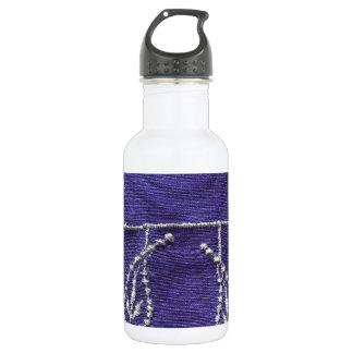 紫色の織物の背景 ウォーターボトル