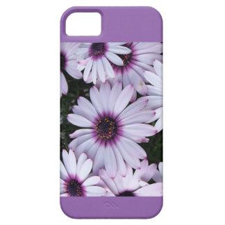 紫色の背景が付いている薄紫の花 iPhone SE/5/5s ケース