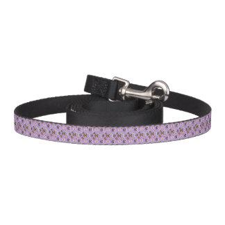 紫色の背景のかわいいフクロウパターン ペットリード