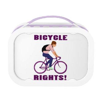 紫色の自転車の権利 ランチボックス