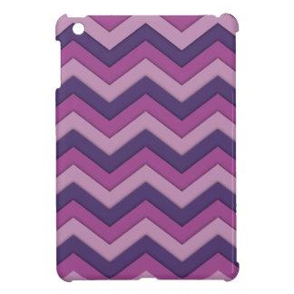 紫色の色合いの尾行されたシェブロン iPad MINIカバー
