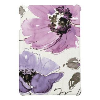 紫色の色合いの花 iPad MINI カバー