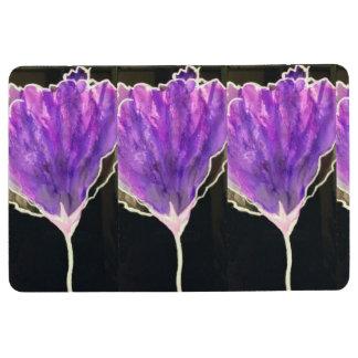 紫色の花が付いている床のマット フロアマット