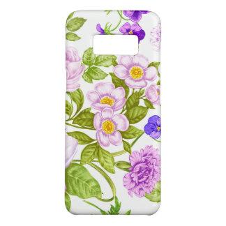 紫色の花のおもしろいパターンSamsungの銀河系S8の箱 Case-Mate Samsung Galaxy S8ケース
