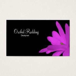 紫色の花のエキゾチックな花屋の結婚式 名刺