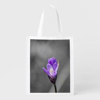紫色の花のエコバッグ エコバッグ
