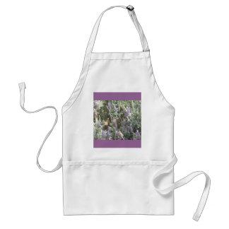 紫色の花のエプロン スタンダードエプロン