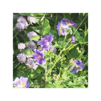 紫色の花のキャンバスのプリント キャンバスプリント