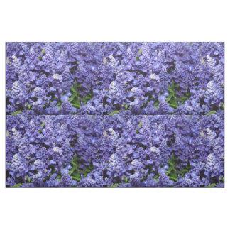 紫色の花のキルトの生地の青Salvia ファブリック