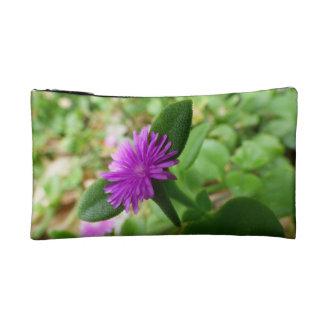 紫色の花のセット コスメティックバッグ