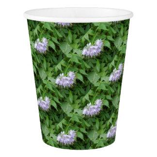 紫色の花のパーティー 紙コップ