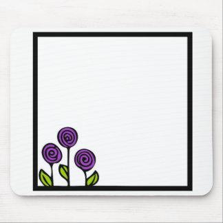 紫色の花のマウスパッド マウスパッド