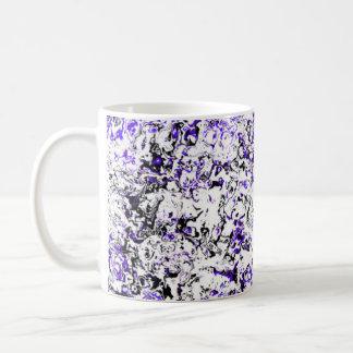紫色の花のマグのコップデザイナーマグ コーヒーマグカップ