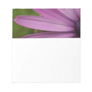 紫色の花のメモ帳のユニークなギフトのアイディア ノートパッド