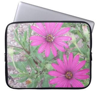紫色の花のラップトップの場合 ラップトップスリーブ