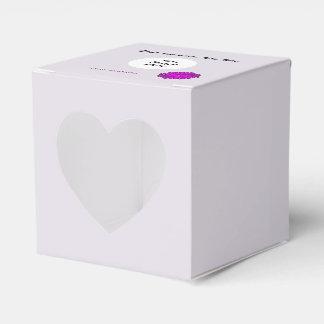 紫色の花のリボンのテンプレート フェイバーボックス