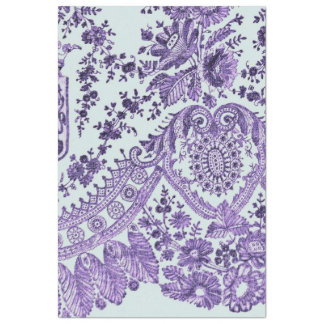 紫色の花のレースパターン 薄葉紙